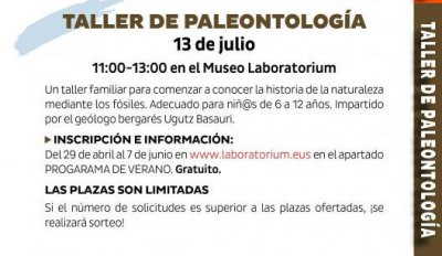 Taller de paleotología 2019